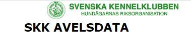 Svenska Kennelklubbens Avelsdata